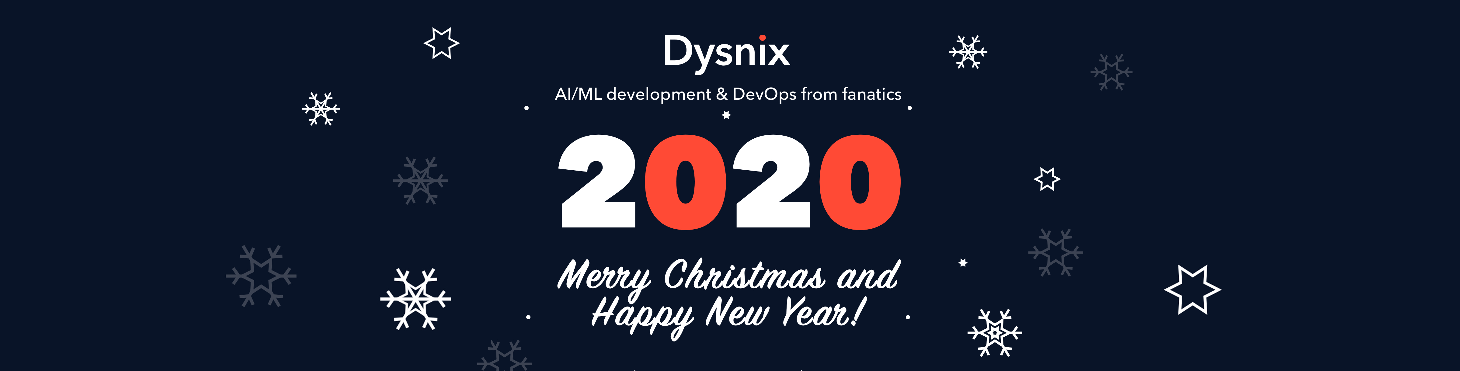 Dysnix wishes you the magical New Year 2020!